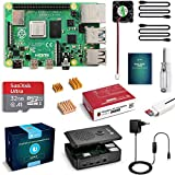 Raspberry pi 4 model B 4GB RAM barebone: Nuovo Soc BCM2711B0 che comprende una CPU quad-core A72 a 1,5Ghz molto potente (4 volte più potente di Raspberry Pi 3B+), 2.4 GHz e 5 GHz 802.11b/g/n/ac wireless LAN e Ethernet Gigabit full speed MicroSD Card ...