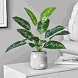 Yeslln Bonsai Artificial rboles Plantas Artificiales Bonsi Decorativo Tortuga Hoja-Jade Blanco Evergreen
