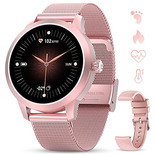 GOKOO Smartwatch Mujer Rosa Reloj Inteligente IP68 Impermeable...