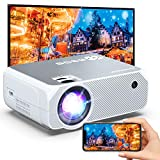 Bomaker Wi-Fi Mini Projector, Portable Outdoor Movie Projector, Full HD Projector for Outdoor Movies, Wireless Mirroring, Compatible with Phone, PC, TV Box, PS4, DVD Player, Windows