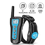 PATPET Dog Shock Collar with Remote - 1000ft Range Shock Collar for Dogs IPX7 Waterproof Dog Training Collar Fast Training Effect for Small Medium Large Dogs