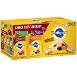 PEDIGREE CHOICE CUTS in Gravy Adult Wet Dog Food Prime Rib & Bacon Flavor, (24) 3.5 oz. Pouches