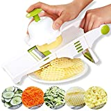 GProME Mandoline Slicer – Adjustable Vegetable Mandolin, Fruit zucchini Slicer, French Fry Cutter, Food Waffle,Julienne Grater– Sharp Stainless Steel Blades