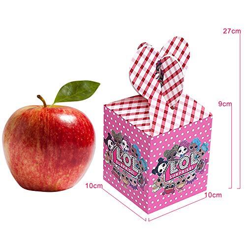 Image 1 - Qemsele boîtes de fête Sac de fête pour Enfant, 12 Pcs Repas boîtes en Carton uni Garçons Filles pour Thème Décorations Réutilisable Sac Cadeau de Fête Anniversaire Noël Sacs de fête (LOL)