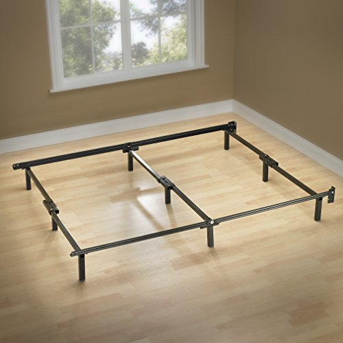ZINUS Compack Metal Bed Frame / 7 Inch Support Bed Frame for Box Spring and Mattress Set, Black, Queen