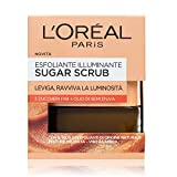 L'Oréal Paris Cleansing Sugar Scrub iluminador exfoliante para rostro y labios con finos cristales ...