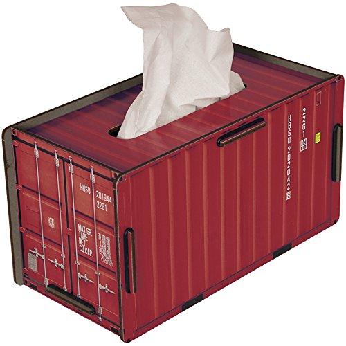 Werkhaus - Tissue-Box in Container-Optik, Rot, CO1022