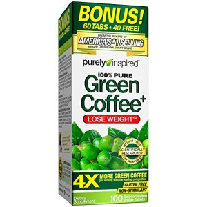 Purely Inspired Green Coffee Bean, Weight Loss Supplement, Non-Stimulant 100% Pure Green Coffee for Weight Loss, 100 Count *Bonus Size* (PIN305) 3 - My Weight Loss Today