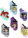 Disney Princess Girls Teen Womens 6 pack Socks (9-11 Womens (Shoe: 4-10), Princess Names No Show)