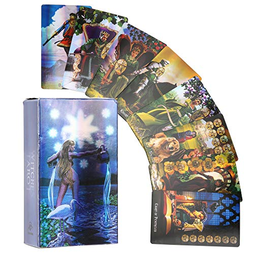 Witch Tarot Cards Deck Future Telling Game with Colorful...