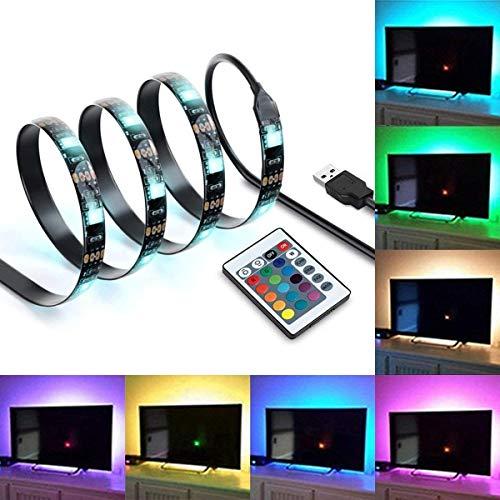 IREGRO 200cm TV LED Posteriore di Illuminazione Kit, Multi Color Luce Striscia di LED RGB di Illuminazione per TV USB Powered TV Retroilluminazione, Home Theater Accent Kit con Telecomando