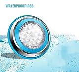 Roleadro 54w Blanc Lampe de Piscine LED Submersibles Lampe pour Piscine...