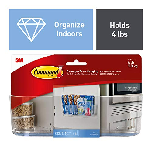 Command Large Caddy, Clear, Organize your dorm