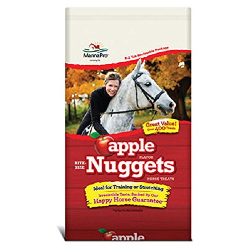 Horse | Manna Pro 4 lb Bag of Flavored Bite Size Nuggets. Horse Treats. Great for Training! (Apple), Gym exercise ab workouts - shap2.com