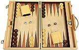 Orion Craft 15' Olive Starburst Wood Backgammon Set - Attache Case