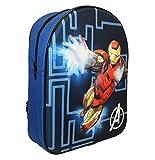 Marvel Mochila infantil EVA Iron Man 32 cm, 9 litros, color negro