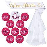 Kit de Accessoire Enterrement de Vie de Jeune Fille 1pcs Voile de Mariage...