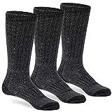 Wool Socks for Men & Women Winter Warm Cozy Thermal Merino Boot Hiking Sock ML