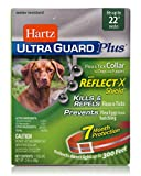 Hartz UltraGuard Plus Reflective Orange Flea & Tick Collar for Dogs and Puppies - 22' Neck, 7 Month Protection