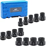 Impact Nut and Bolt Extraction Tool Set   Rusted Damaged Stripped Nut and Bolt Remover Tool Kit   Nut Bolt Extractor Socket Set in 13 SAE and Metric Sizes for 3/8 Inch Drive with Case
