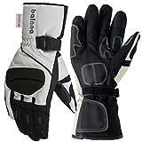 Balnna Waterproof Mens Ski Gloves Winter Warm 3M Thinsulate Snowboard Snowmobile Cold Weather Gloves(Medium, Black&Gray