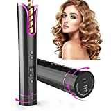 Automatic Hair Curler, Cordless Automatic Curling Iron Portable Ceramic Barrel Hair Curling Wand...
