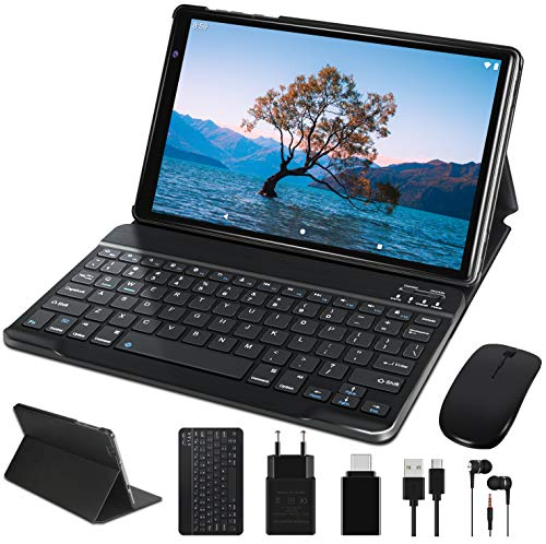 FACETEL Tablette Tactile 10 Pouces Android 10.0 Certifié par Google GSM, Tablettes avec 4 Go RAM 64 Go ROM Support TF Extension (Max 128 Go) et WiFi Uniquement Tablette | Bluetooth | GPS | OTG - Gris