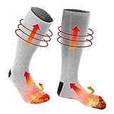 Chaussettes chauffantes électriques, Chaussettes Thermiques 1 Paire pour Temps Froid, Chaussettes...