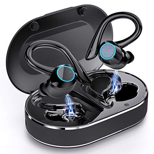 Ecouteur Bluetooth 5.1, Andfive Ecouteurs sans Fil Sport Oreillette Bluetooth Stéréo Basses avec Double Micro, USB-C Charge Rapide, CVC 8.0 Réduction du Bruit, IPX7 Etanche Écouteurs Bluetooth Sport