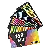 160 Crayons de Couleur (Numérotés) Zenacolor - Rangement Facile - Coffret...