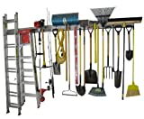 Holeyrail, Garage Organizer, 16 Foot kit, Garage Storage System, Commercial Quality, Industrial Strength, Includes Hooks for Hanging Tools