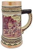 Ceramic Beer Stein with German...