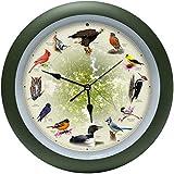 Mark Feldstein Limited Edition 20th Anniversary Singing Bird Wall Clock, 13 Inch
