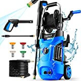 Power Washer, Suyncll Pressure Washer Electric High Pressure Washer 1800W Professional Car Washer Cleaner Machine ,4 Nozzles for Patio Garden Yard Vehicle