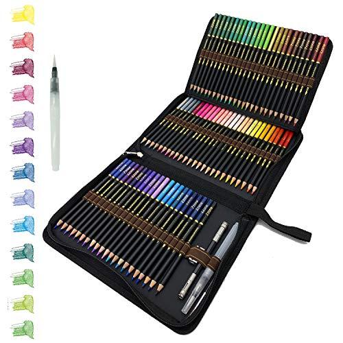 tvfly 72 Professionelle Aquarell Bleistifte, Aquarellstifte Set mit Premium Black Zipper Case Einfach zu lagern und zu schützen Buntstifte Ideales Set für Künstler, Erwachsene und Kinder