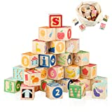 Joqutoys Building Blocks for Toddlers 1-3 Large, Wooden Baby Blocks for Stacking and Building, 26...