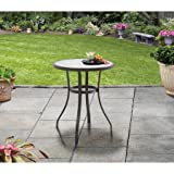 Mainstay Heritage Park 4' D x 27' H Round Bistro Table, Matte Espresso Finish