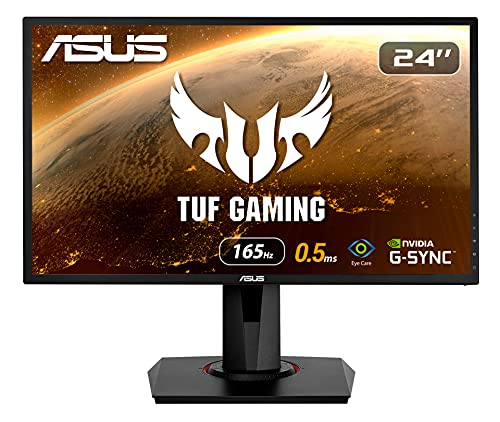 ASUS VG248QG - Monitor Gaming de 24' (Full HD, 165 Hz, 0.5 ms MPRT, Extreme Low Motion Blur, Adaptive-sync, FreeSync Premium technology) negro