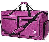 Bago 60L Packable Duffle Bag for Women & Men - 23' Foldable Travel Duffel Bag (SnowPurple)