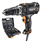 Hammer Drill, TACKLIFE PID04A Corded Drill Driver, 620in-lb/70N.m Torque, 20+1+1 Position Clutch, Paint And Mud Mixer, With 15 Drill Bits Set, Carrying Case, Liquid Horizontal Bubble - PID04A