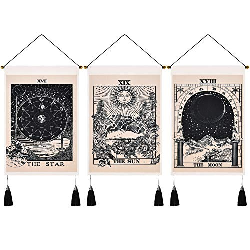Uspring Pack of 3 Tarot Tapestry The Sun The Moon The Star...