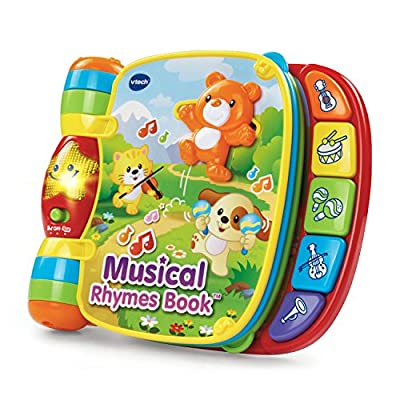Easy-to-turn pages feature engaging nursery rhymes and cheerful pictures Twist and slide fun play pieces on colorful pages Learning and music modes introduce age-appropriate vocabulary, music and instrument sounds 5 colorful piano buttons play music ...