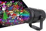 Projecteur LED de Halloween de Noël, Projecteur Noel Exterieur avec 16...