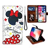 Wallet Case for Apple iPhone Xs Max (2018) 6.5' Bow Disney Dot Magic Mickey Minnie Mouse Pink Summer Dlr Ms