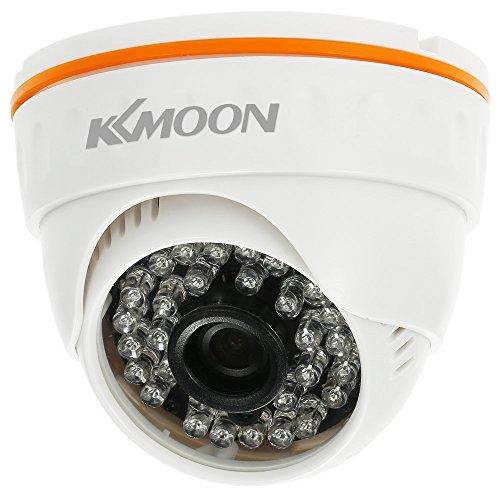 IP Camera KKmoon 1080P HD POE IP Dome Camera 2.0MP 3.6mm 36PZ IR Lampade H.265/H.264/H.265+ P2P Onvif Visione Notturna IR-CUT Rilevazione Movimento per Sicurezza Domestica Stile 1