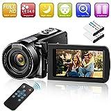 Video Camera Camcorder Digital YouTube Vlogging Camera Recorder GOXMGO 1080P 24.0MP 18X Digital Zoom Camcorder with IR Night Vision and Remote Control (2 Batteries)