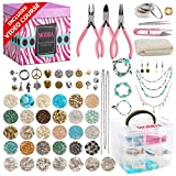 Modda Deluxe Jewelry Making Kit with Video Course, Includes Instructions, Beads, Necklace, Bracelet,...