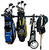 StoreYourBoard Golf Organizer, Garage Storage Rack, Adjustable Wall Mounted Hanger, Golf Bags and Accessories ((2) Bags + Accessories)