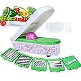 LHS Vegetable Chopper, Pro Onion Chopper Slicer Dicer Cutter - Cheese & Veggie Chopper - Food Chopper Dicer with 5 Blades (Green)