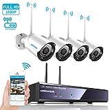 Kit de Wifi vidéo surveillance sans fil, SZSINOCAM Système de Sécurité...